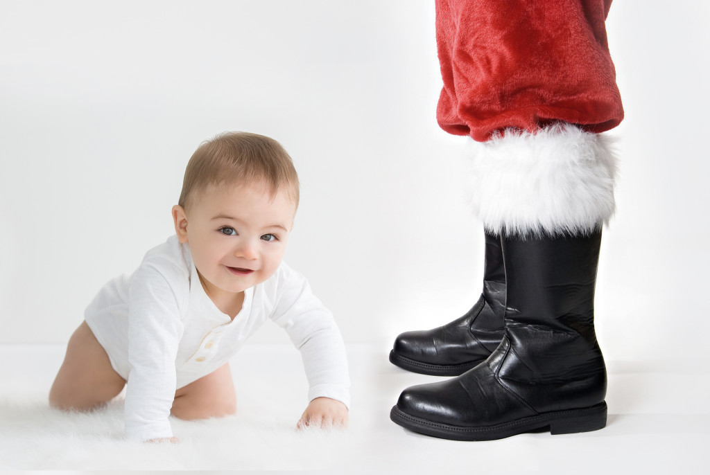santa feet and kid